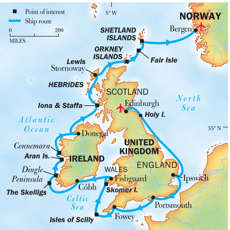 Map Of England Ireland Scotland Wales.England Ireland Scotland And Wales A Circumnavigation Itinerary