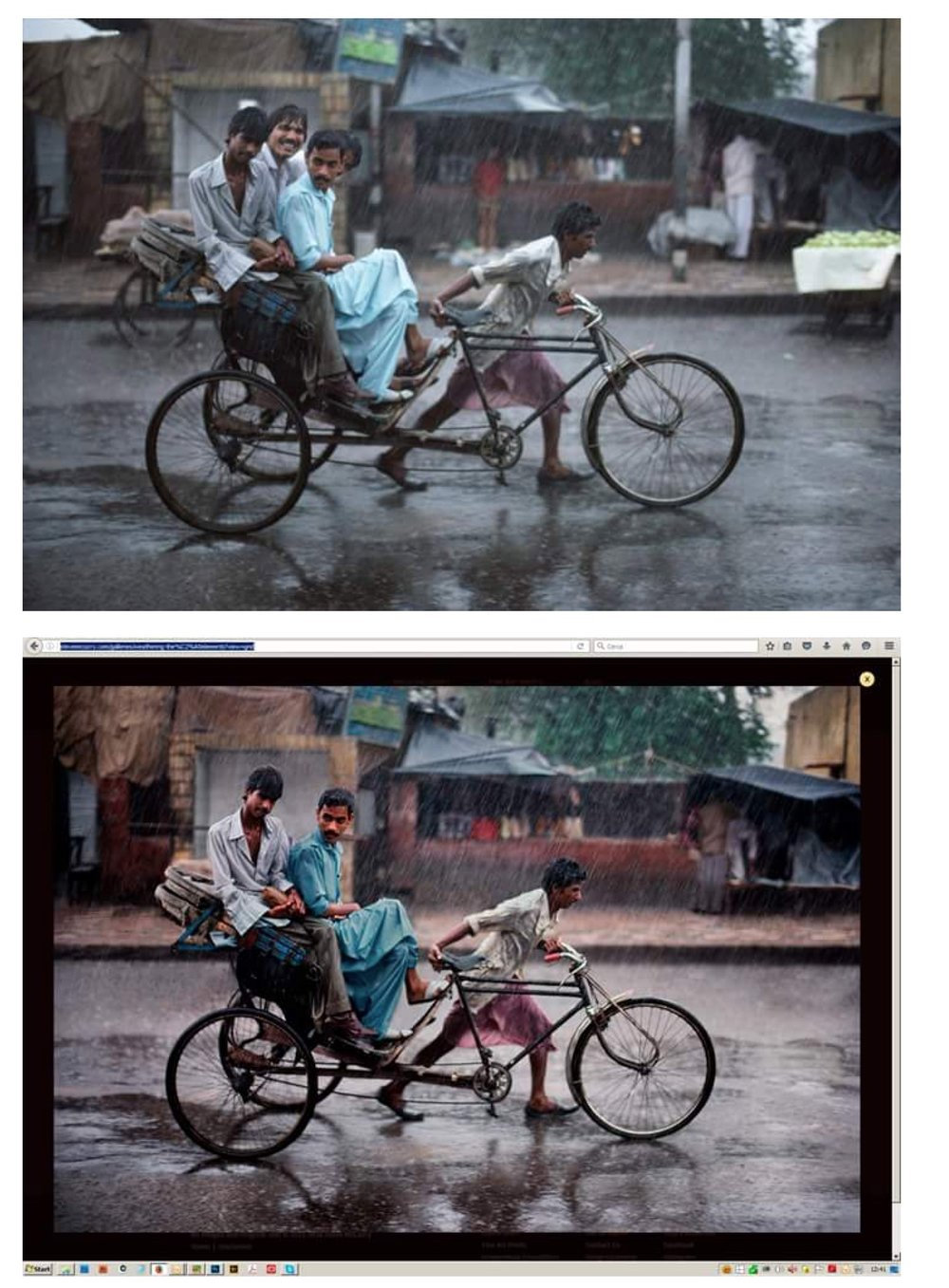 Photograph by Steve McCurry. Top image: Original, Below: Manipulated. Image source :https://aphotographicmind.net/2016/05/07/spot-the-differences/