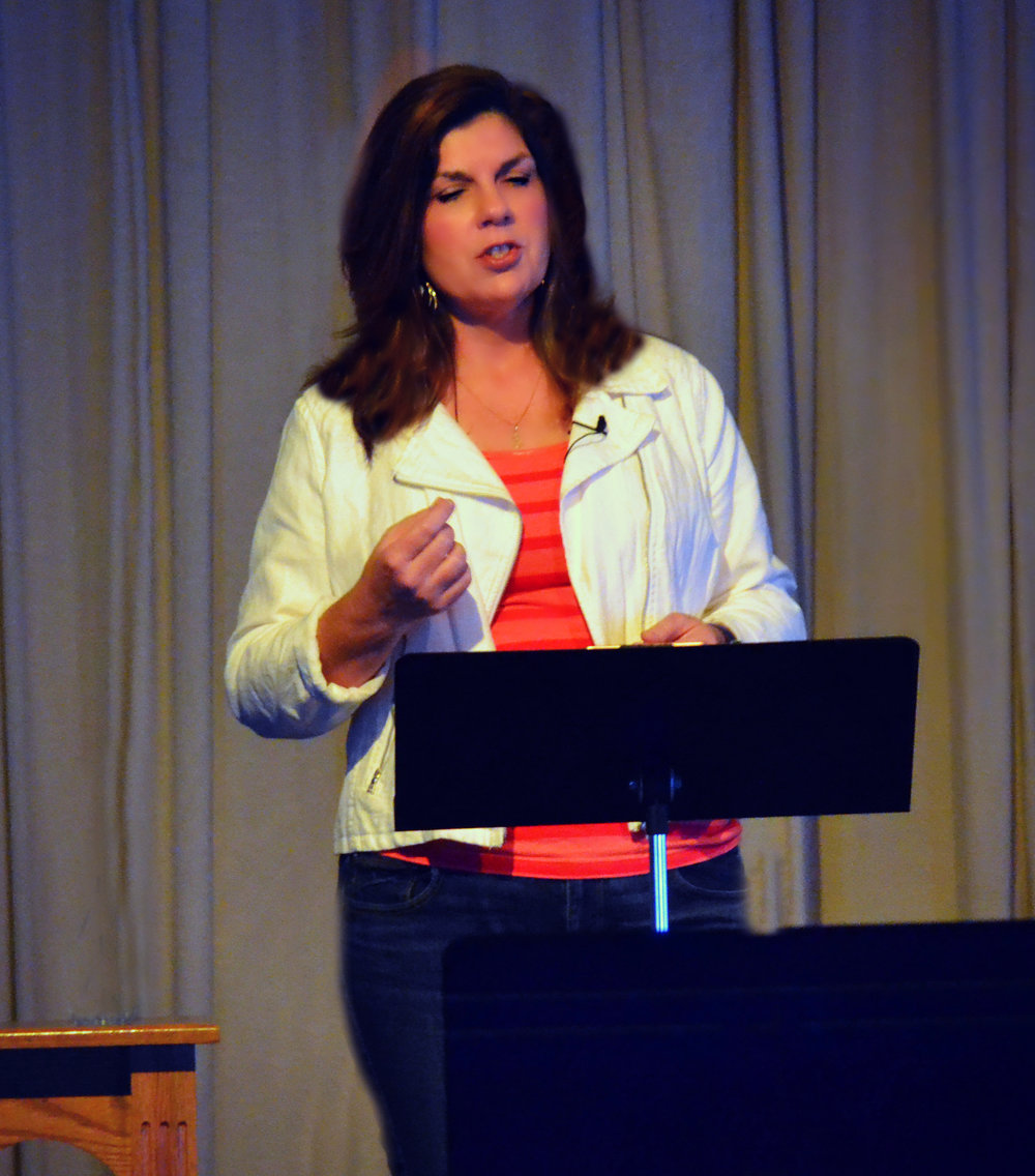 Teresa MacBain sharing Grace Redefined: From Pastor to Atheist and Back