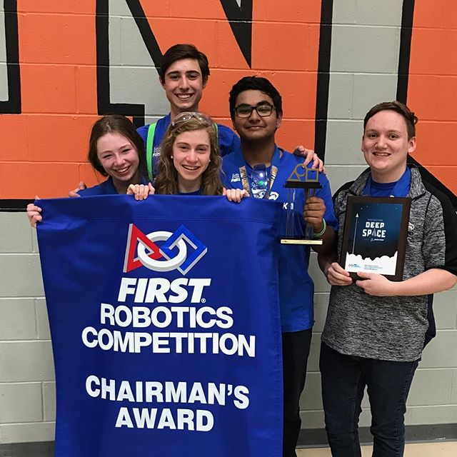 Eggtremely proud of our team tonight after qualifying for districts as well as winning chairman's! Thank you all for your support and we are looking forward to districts! #tears #happy #team #award #omgrobots #love #family #powerhawks