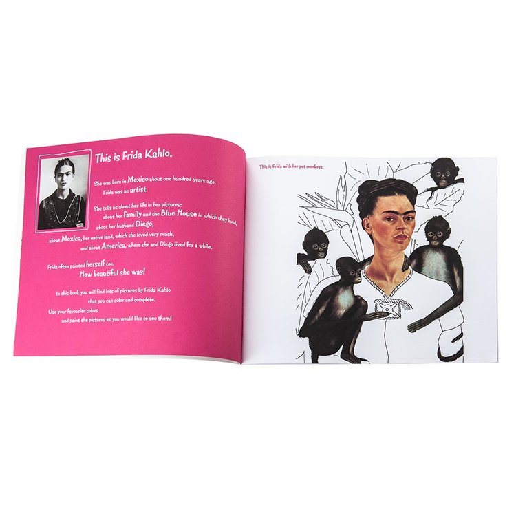 Frida Kahlo Coloring Book by Andrea Weissenbach — The Maryn