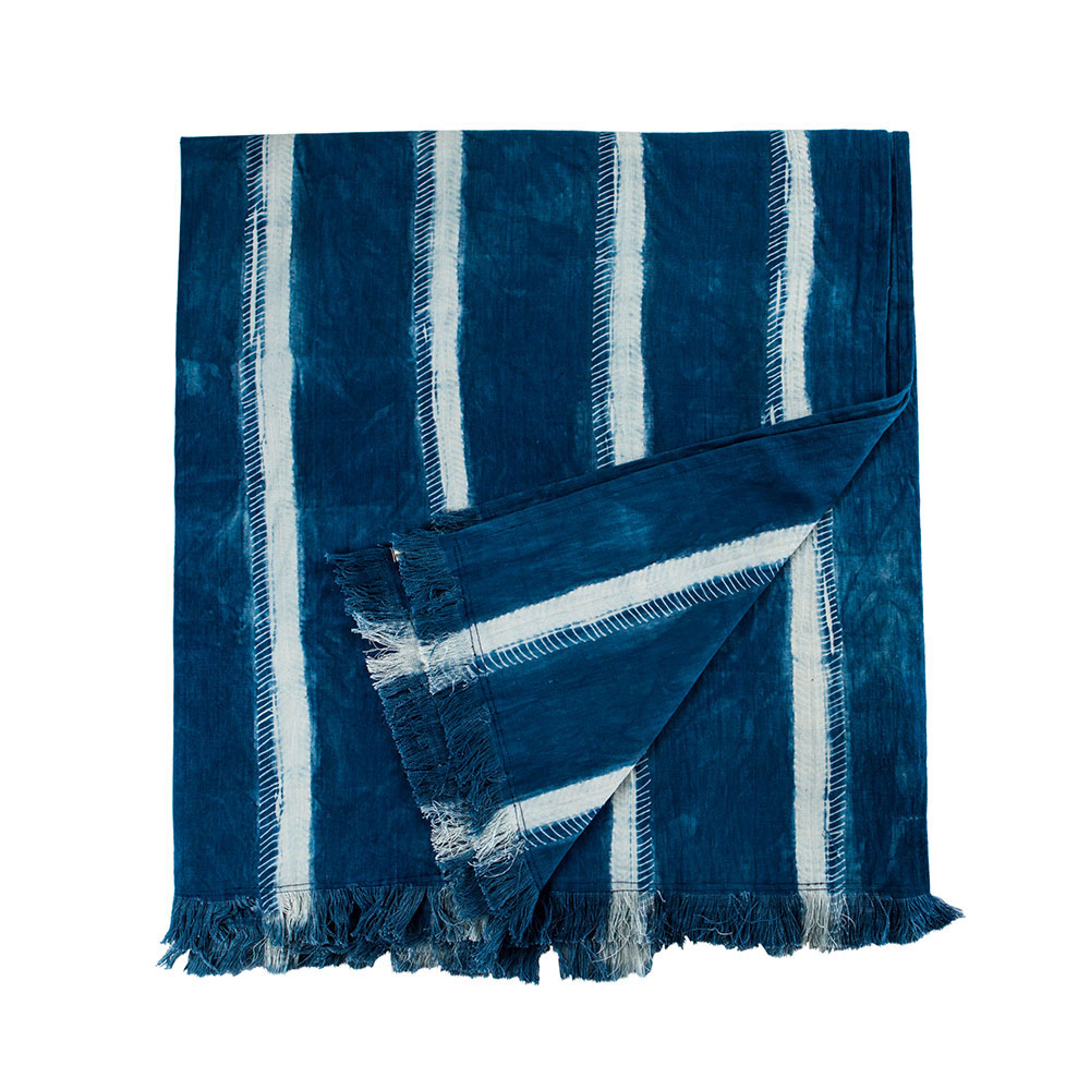 Montauk Blanket with Fringe