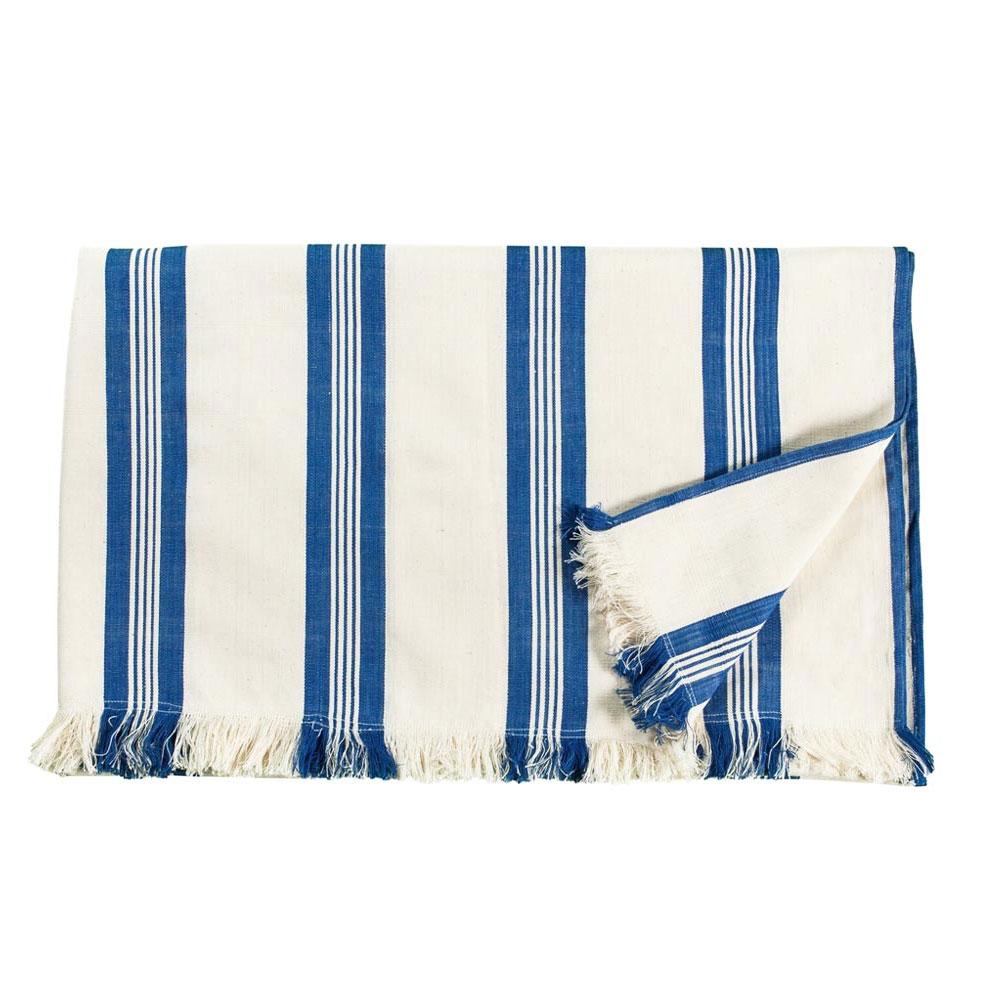 Maryn Stripe Throw with Fringe