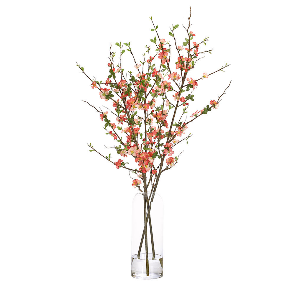 Faux Quince Blossom Branches