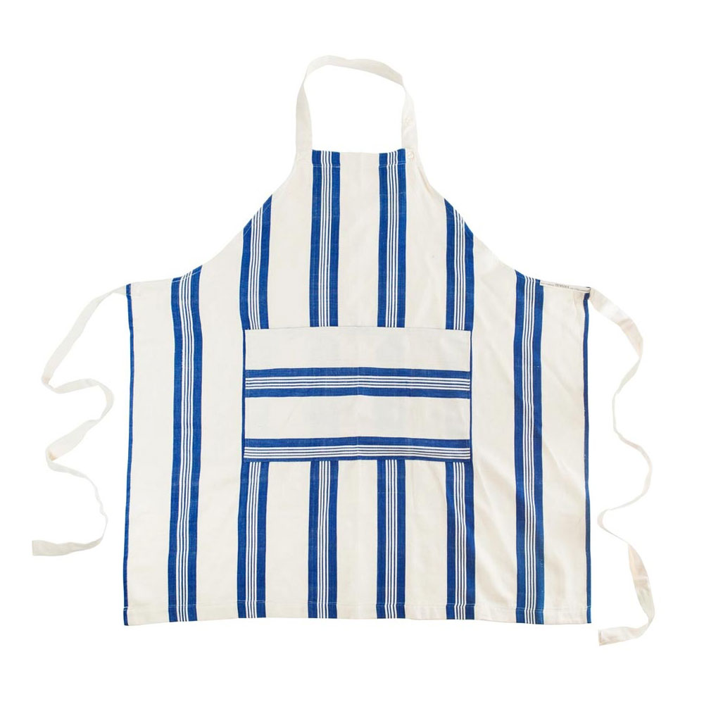 Maryn Stripe Apron with Pouch
