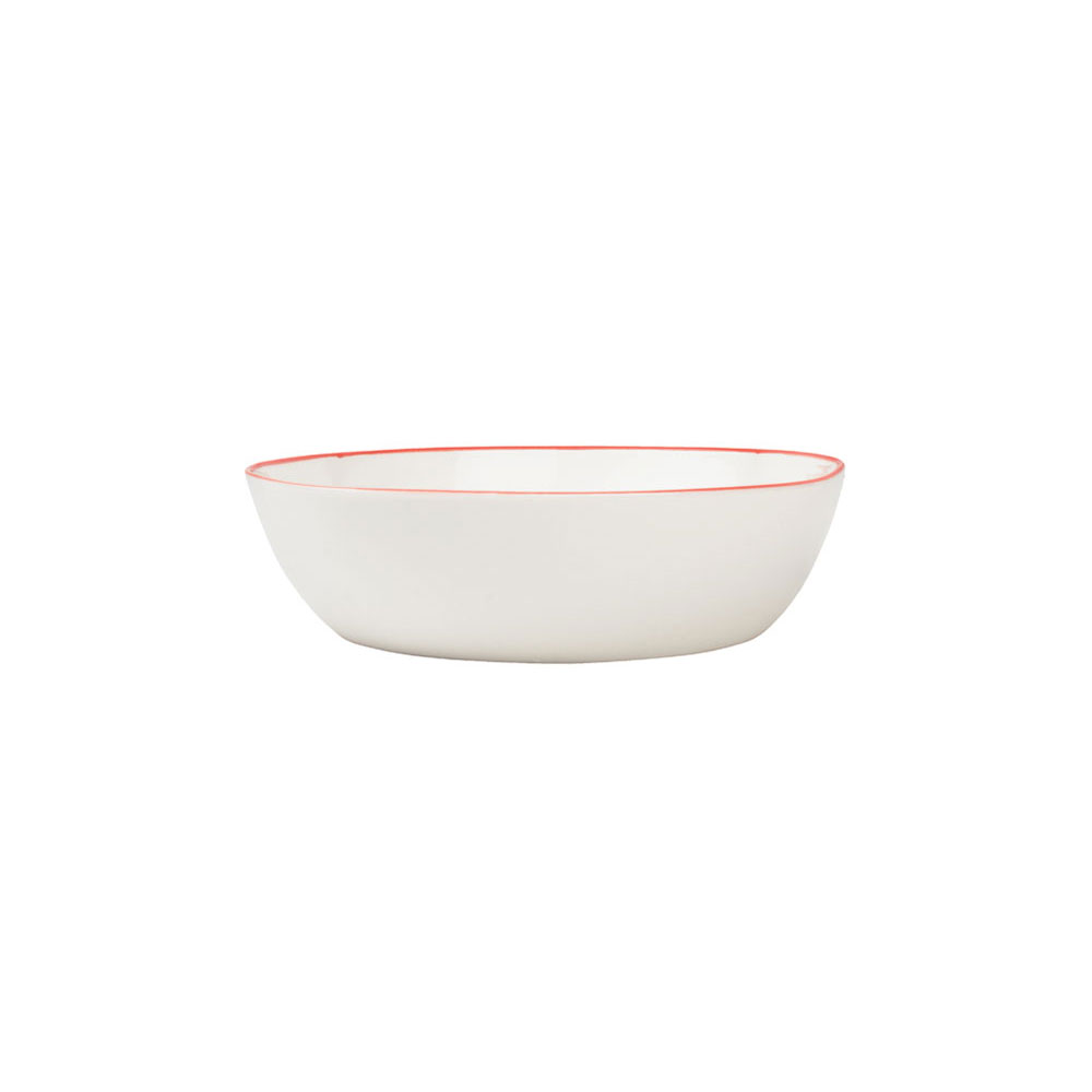 Abbesses Pasta Bowl with Red Rim
