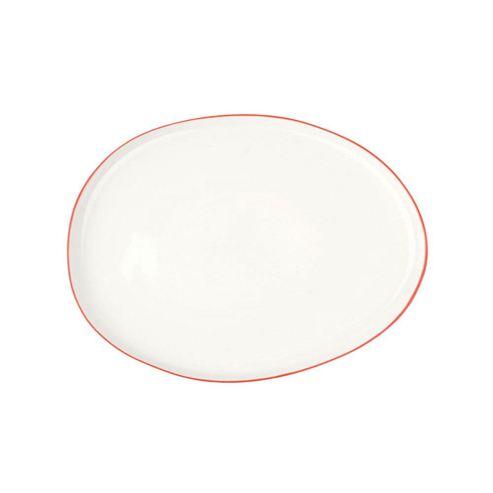 Abbesses Small Platter with Red Rim