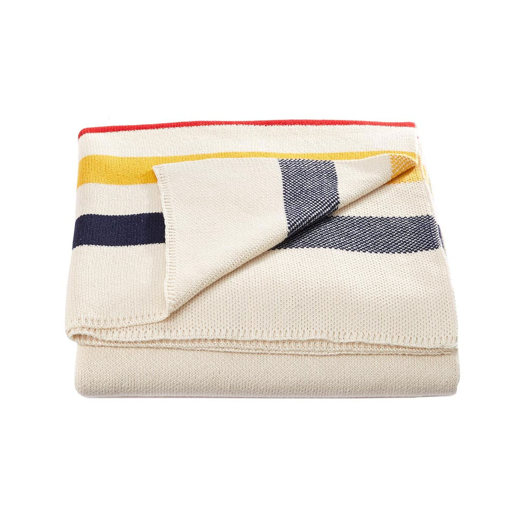 Multistripe Luxe Cotton Knit Throw