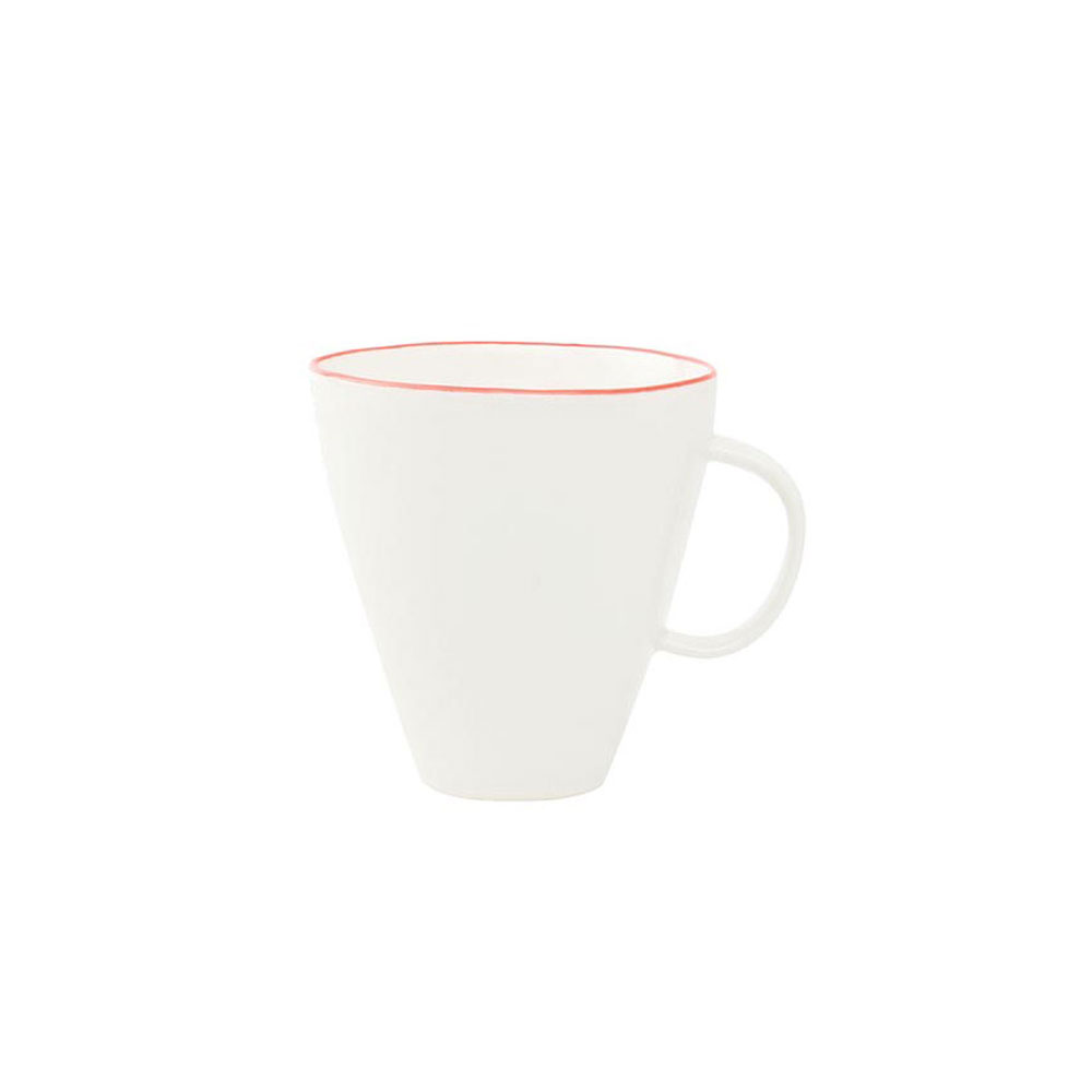 Abbesses Mug with Red Rim