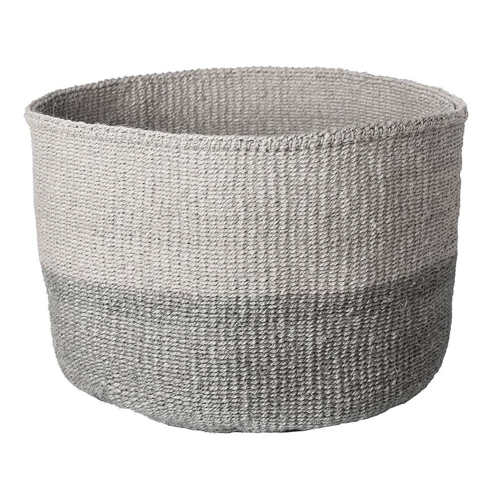 Large Gray Color-Block Basket