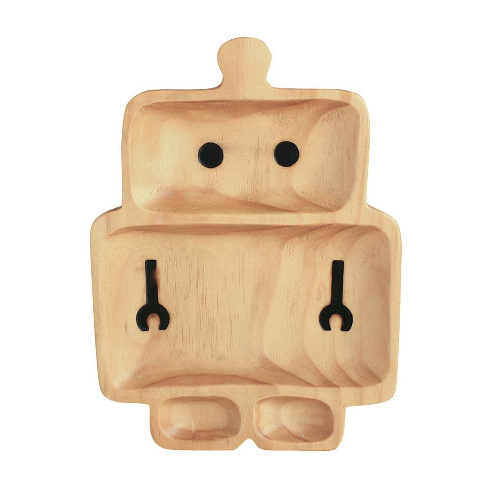 Robot Wooden Plate