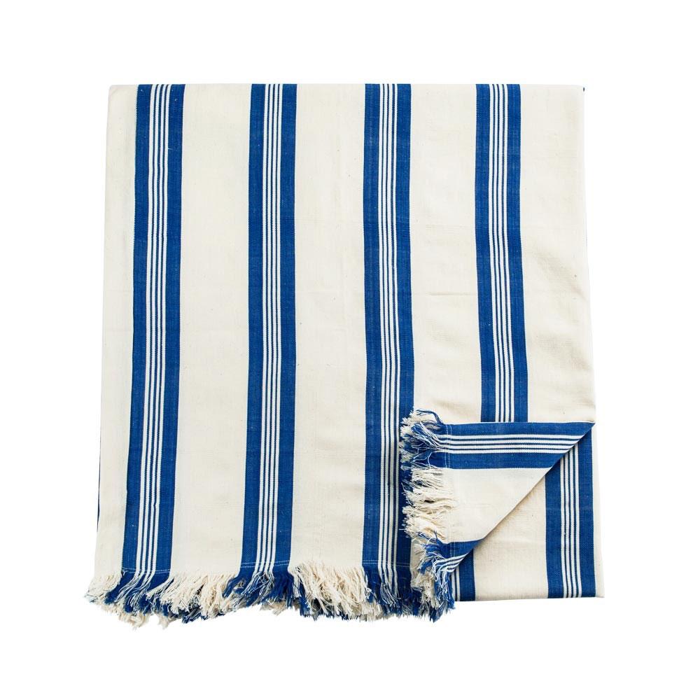 Maryn Stripe Blanket with Fringe