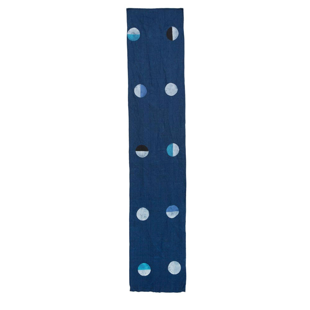 Indigo Linen Multicolor Moons Runner