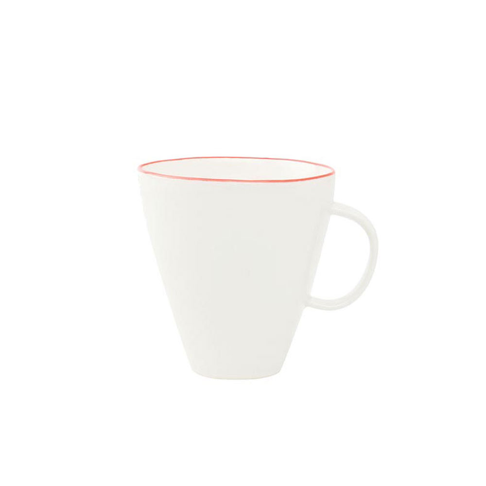 Abbesses Mug with Red Rim