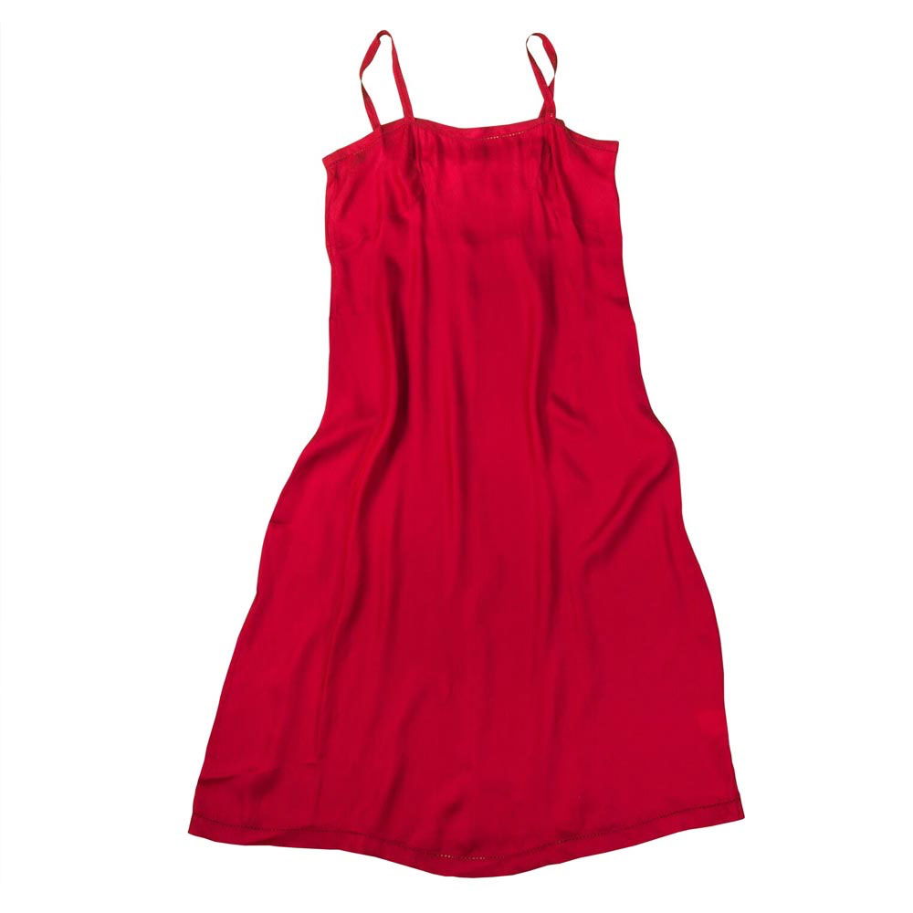 Red Modal Nightgown with Button Strap