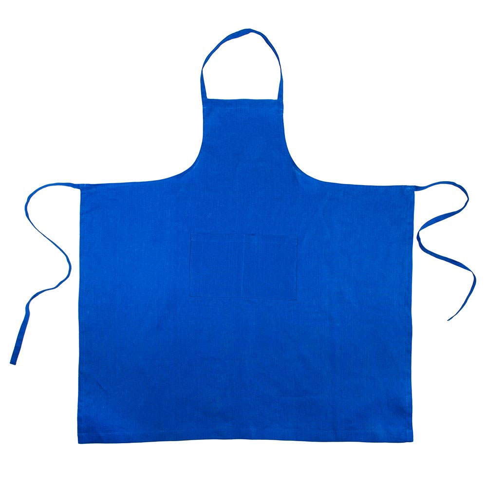 Blue Linen Full Apron