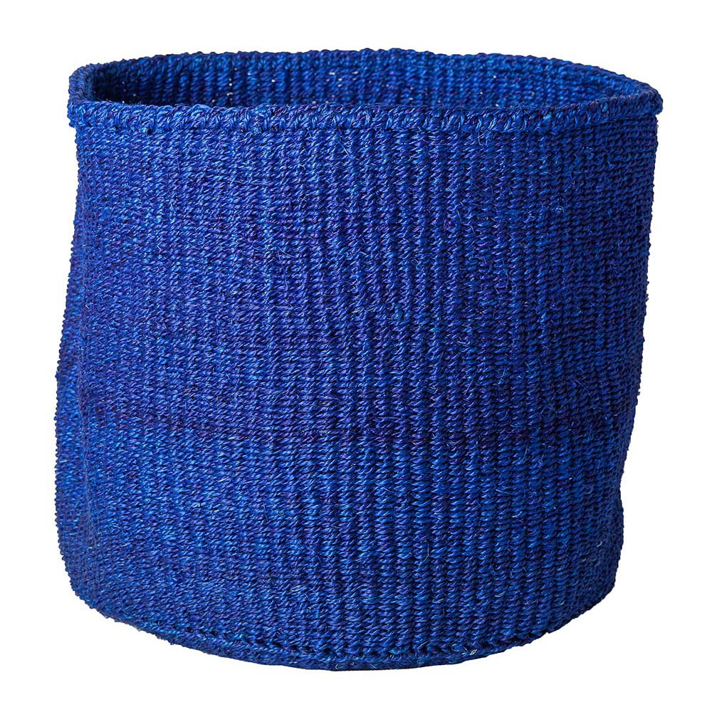 Large Solid Blue Basket