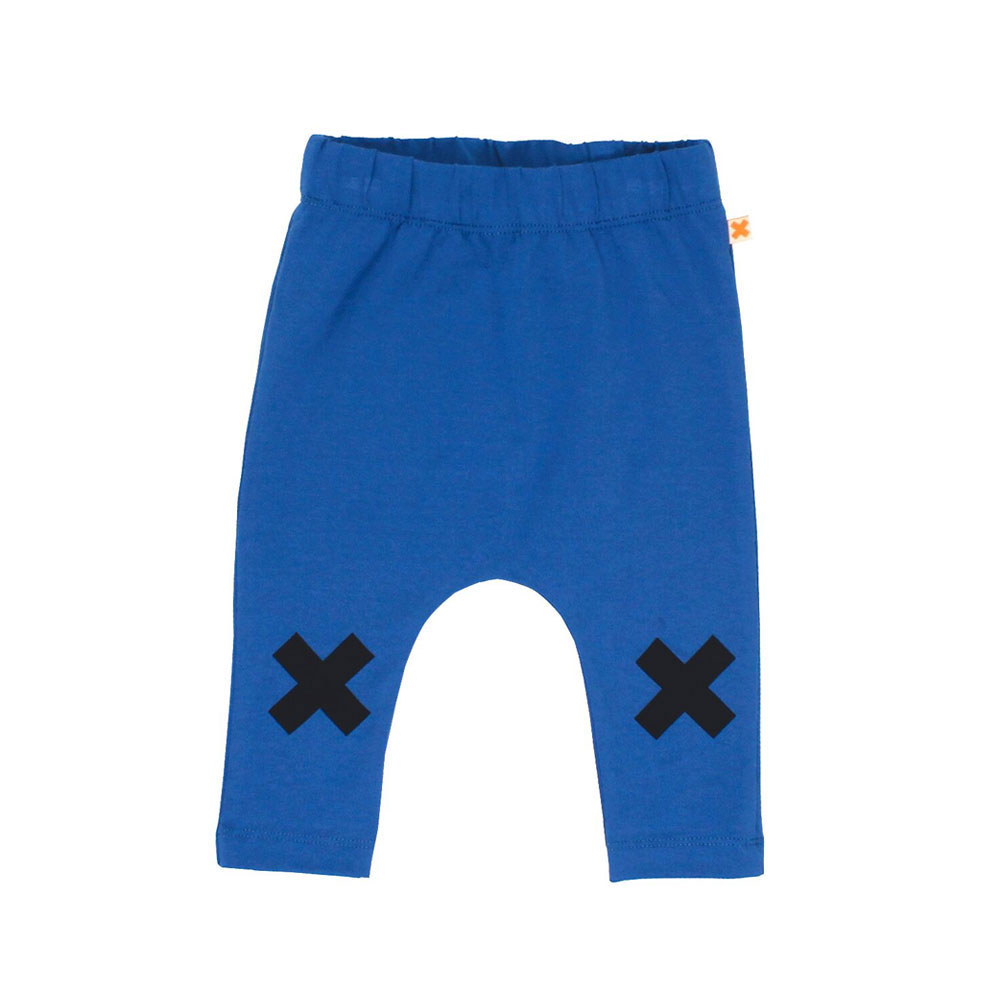 Blue and Navy Logo Pants