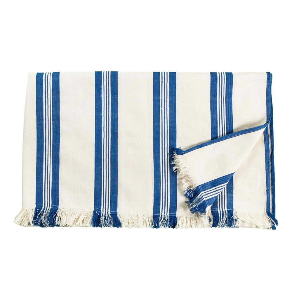Maryn Stripe Throw with Fringe