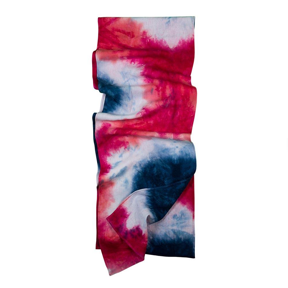Hand-Dyed Linen Table Runner