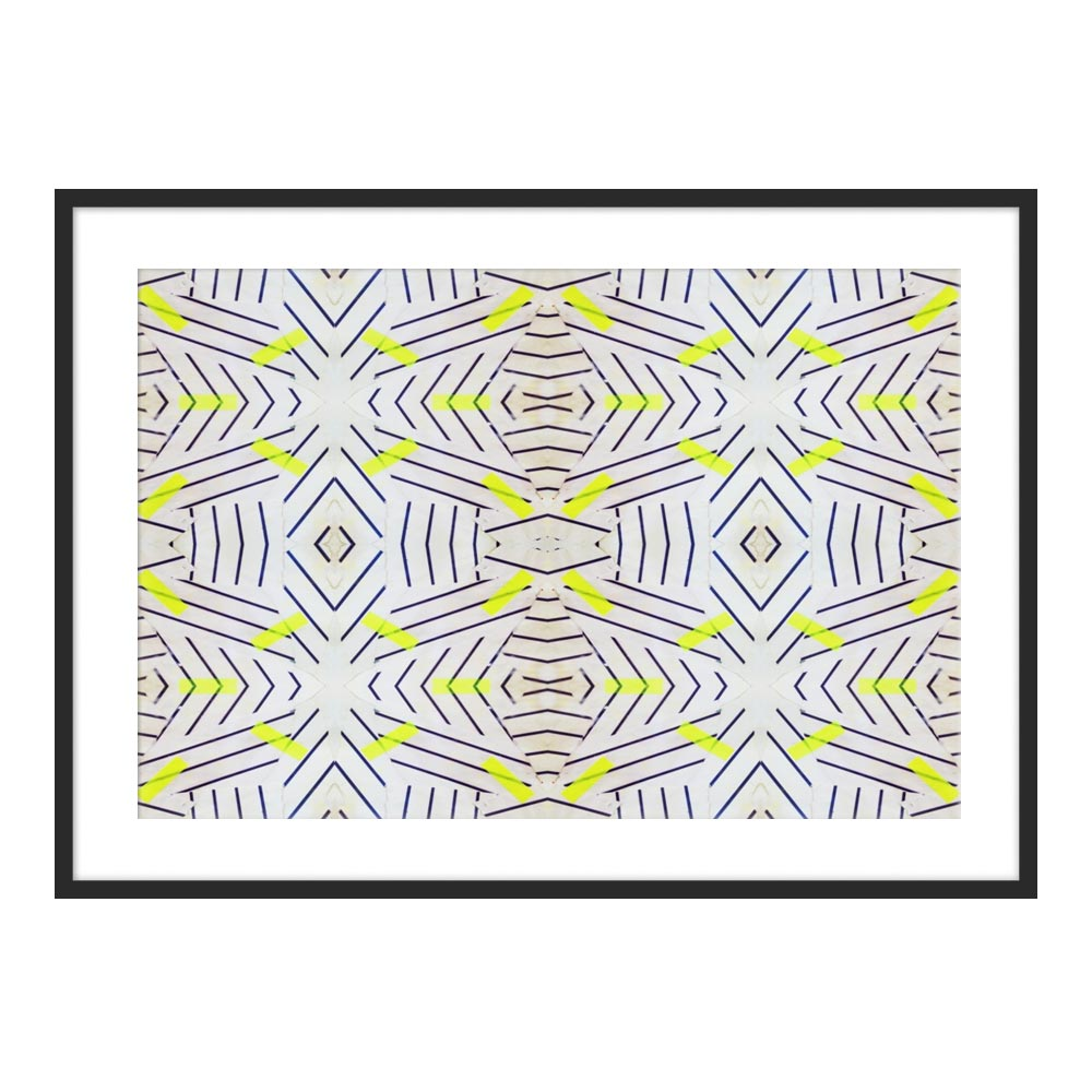 Yellow Zebra by Kristi Kohut for Artfully Walls