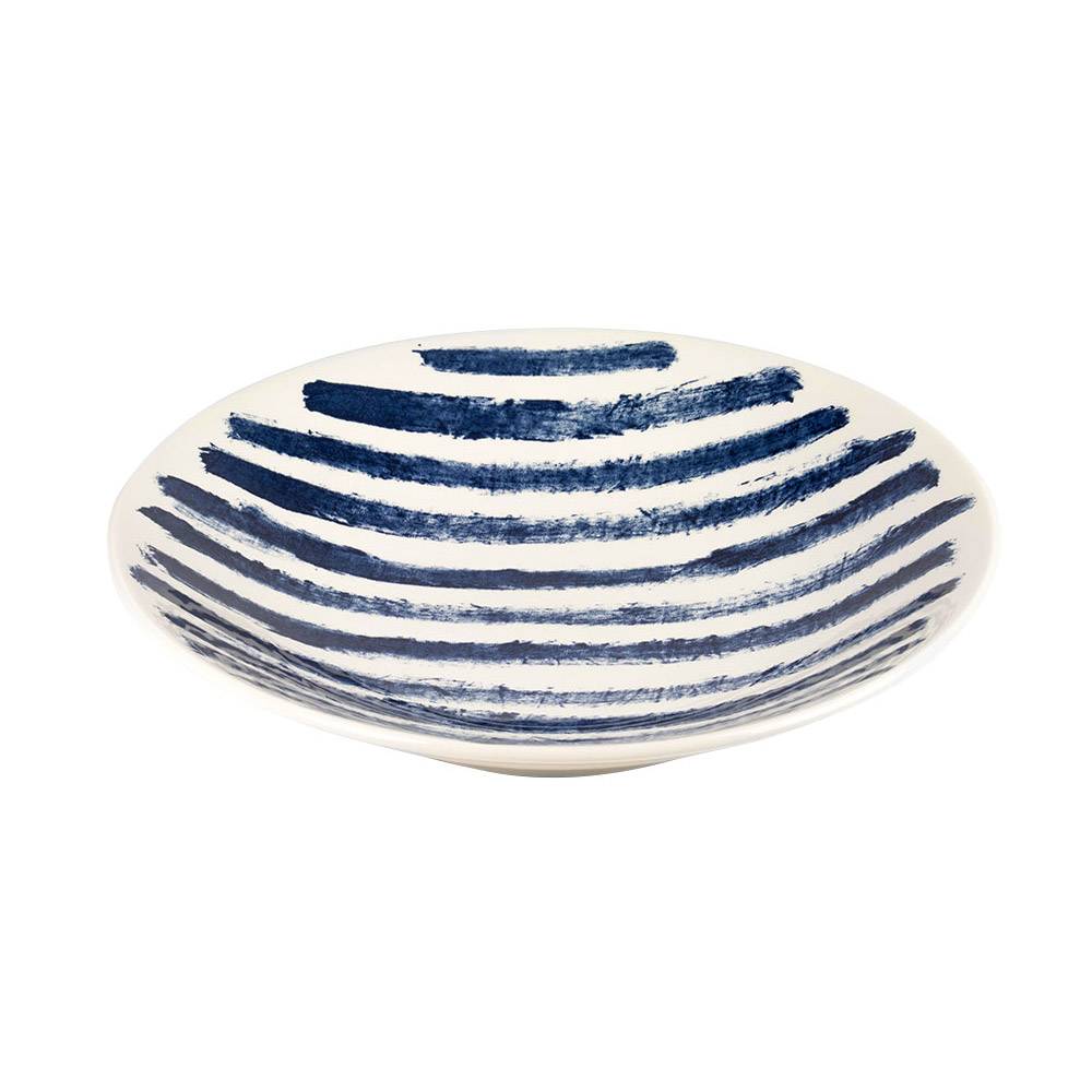 Large Indigo Rain Serving Bowl by Faye Toogood