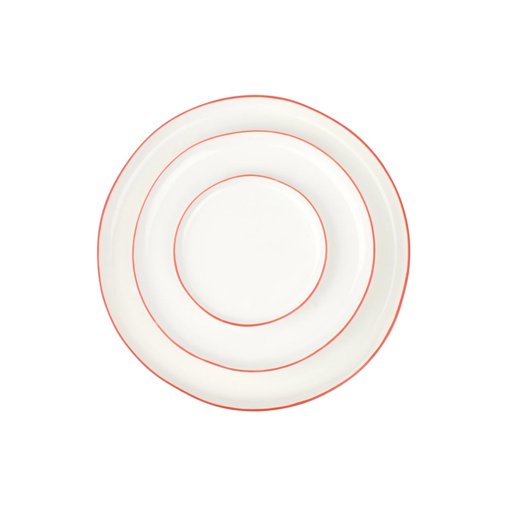 Abbesses Plates with Red Rim (Small)