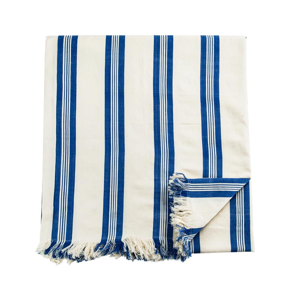 Maryn Stripe Blanket with Fringe