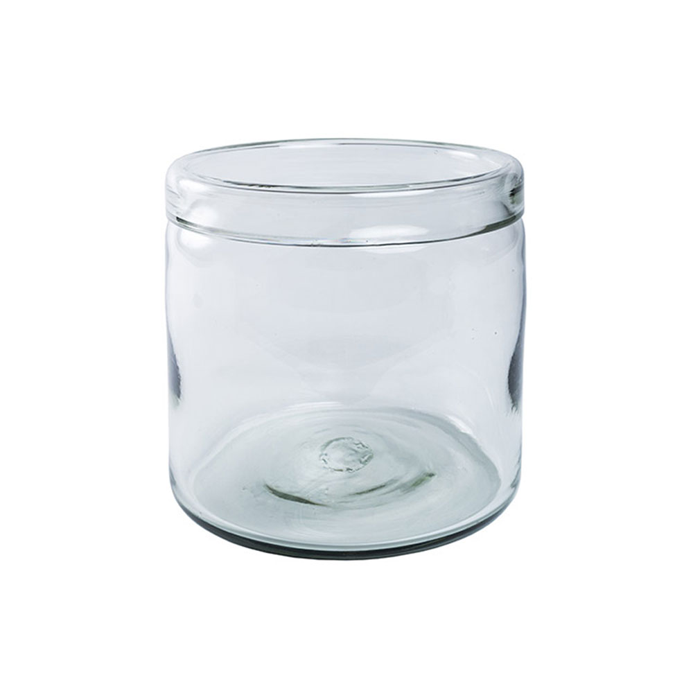 Clear Banded Cylinder Vase