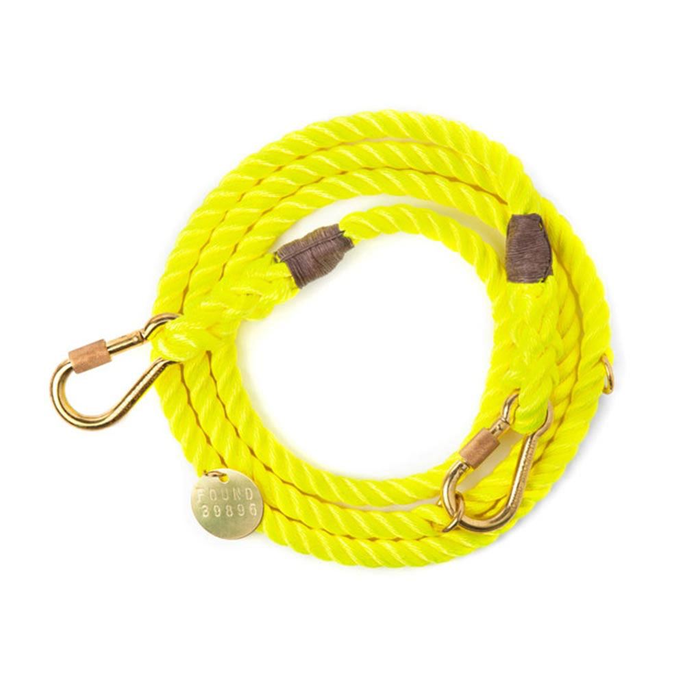 Neon Yellow Adjustable Leash