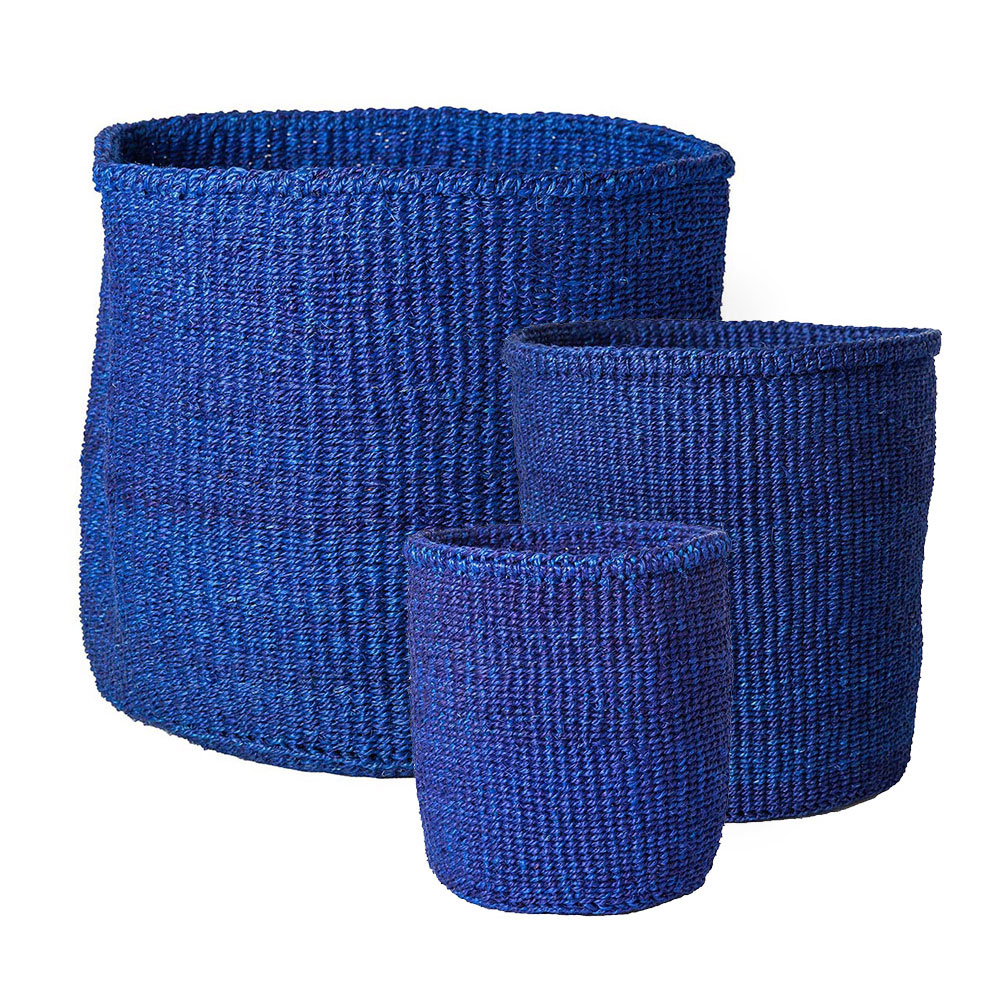 Solid Blue Baskets (large)