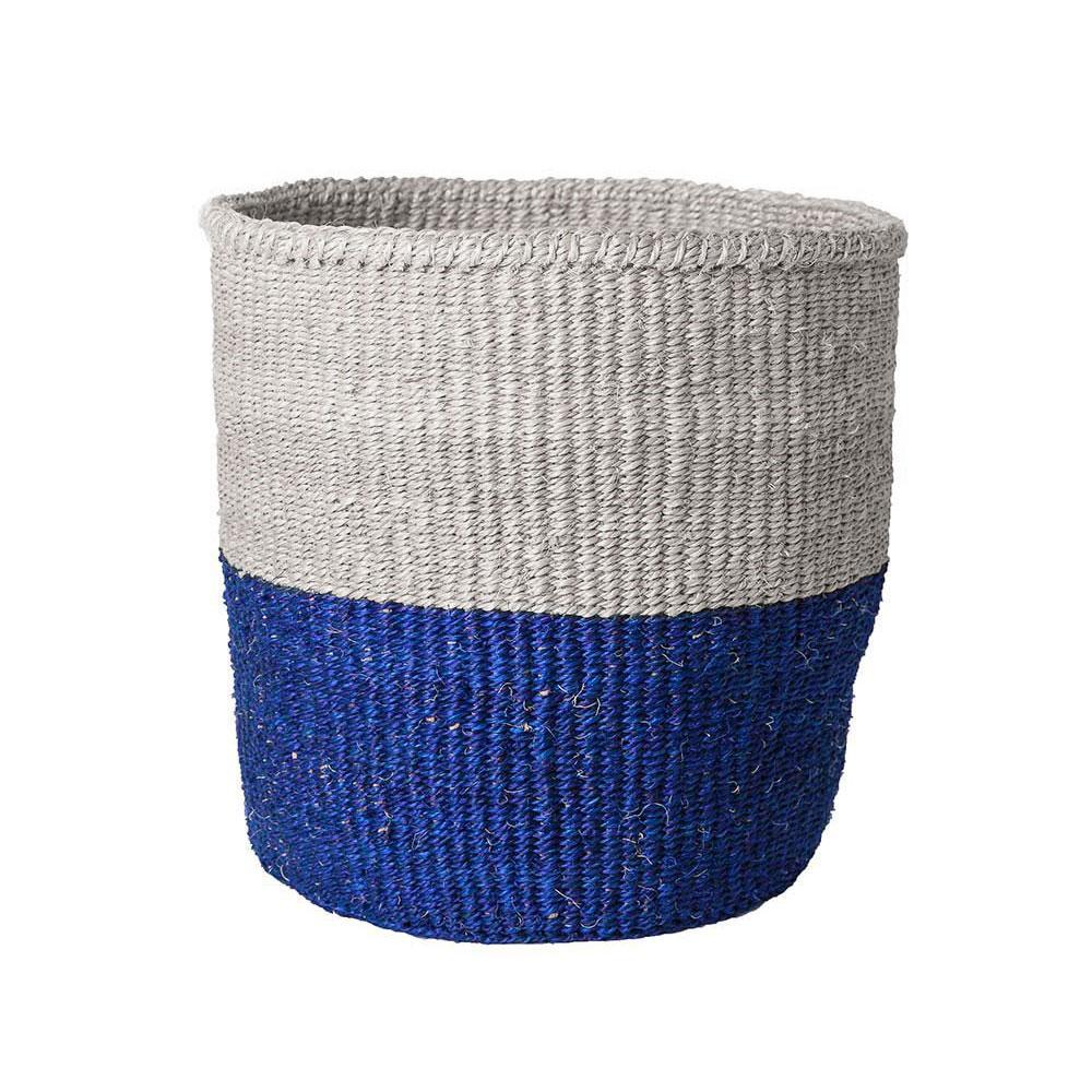 Medium Blue Color-Block Basket