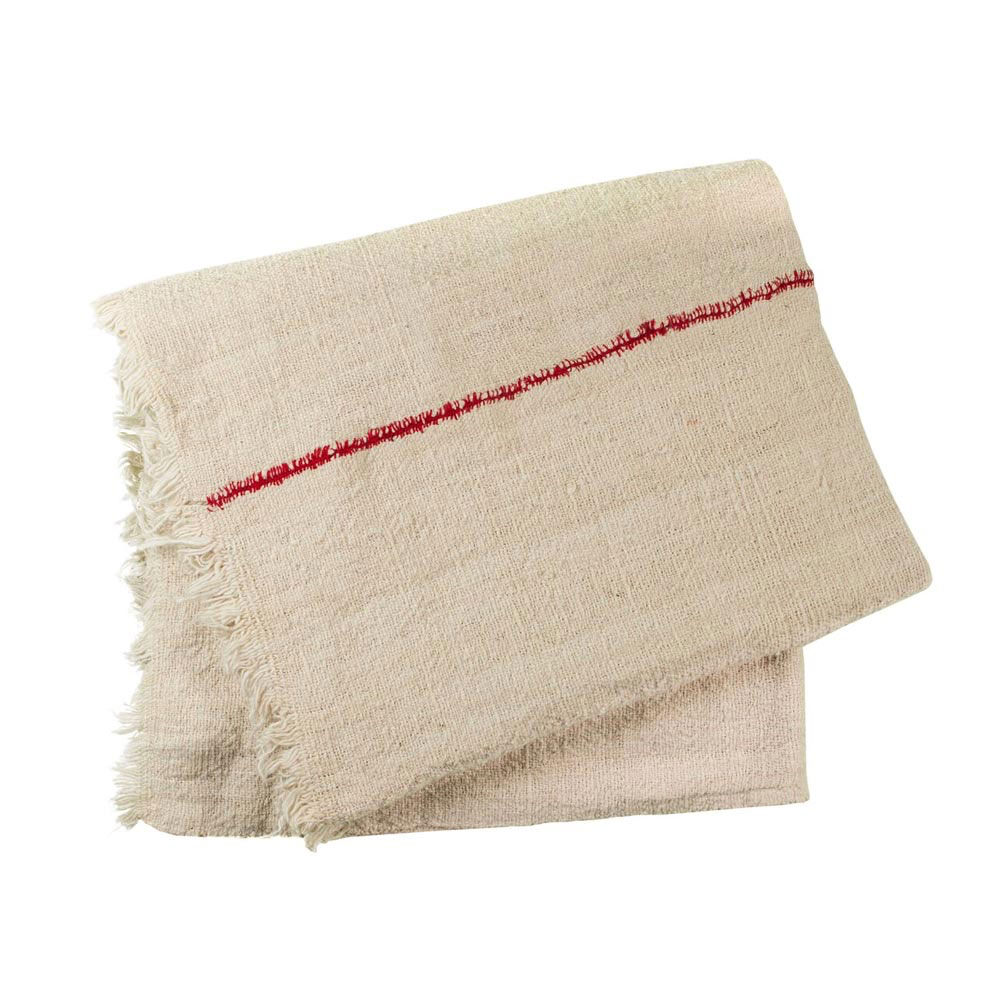 Red Thread Cotton Throw