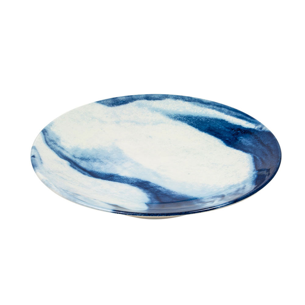 Large Indigo Storm Serving Bowl by Faye Toogood
