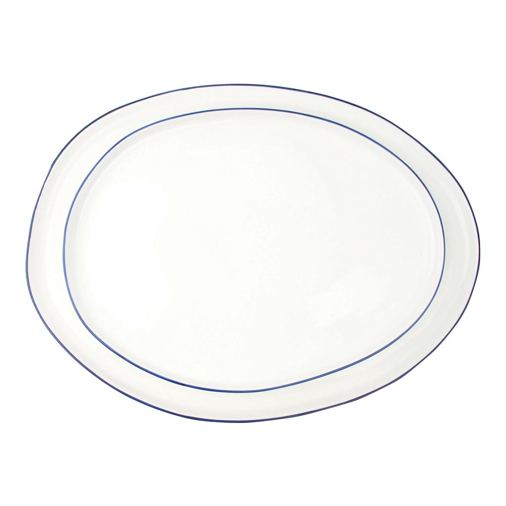 Abbesses Platters with Blue Rim