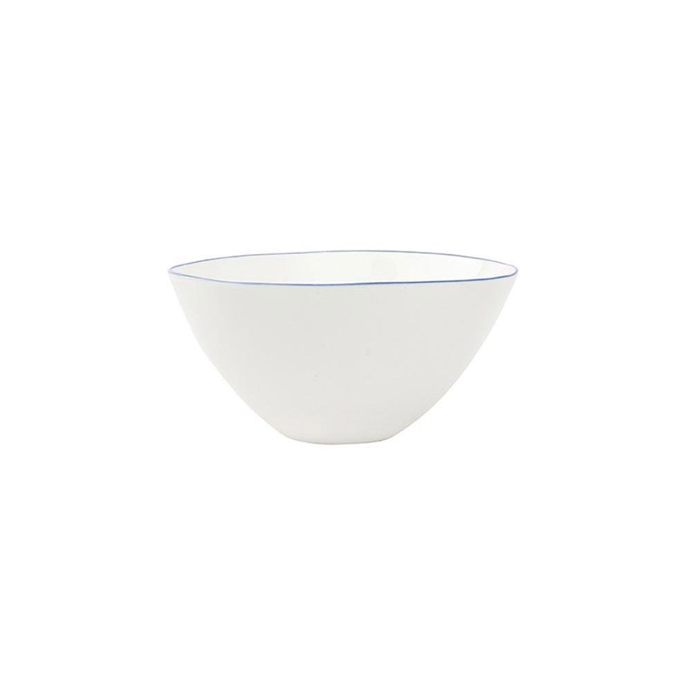 Abbesses Medium Bowl with Blue Rim