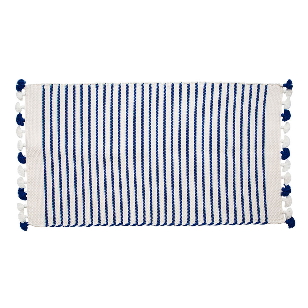 Small Blue Sadek Bath Mat