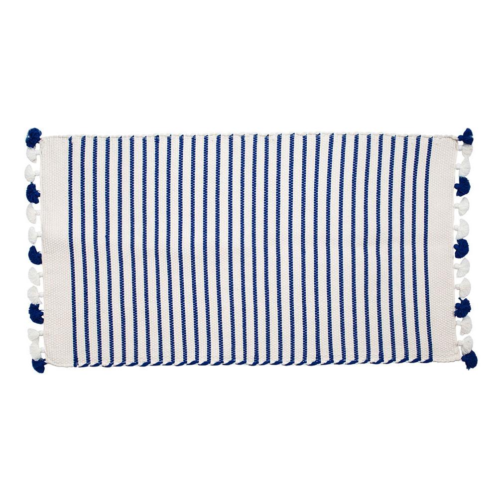 Small Blue Sadek Bath Mat