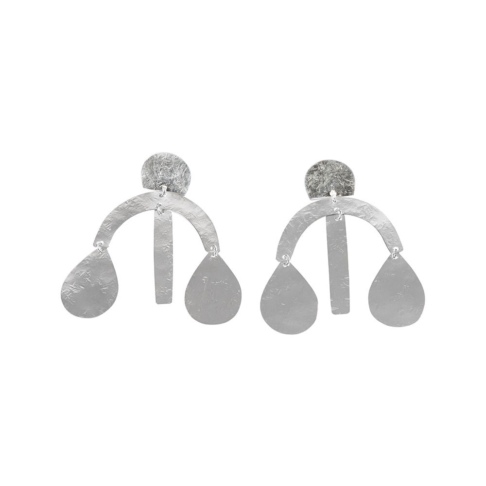 Mini Arc Drop Earrings in Sterling Silver