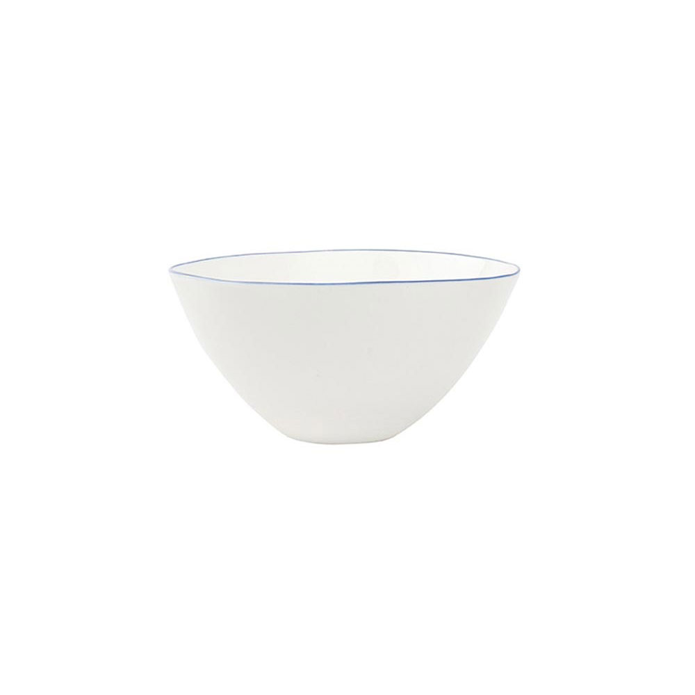 Abbesses Medium Bowl with Blue Rim