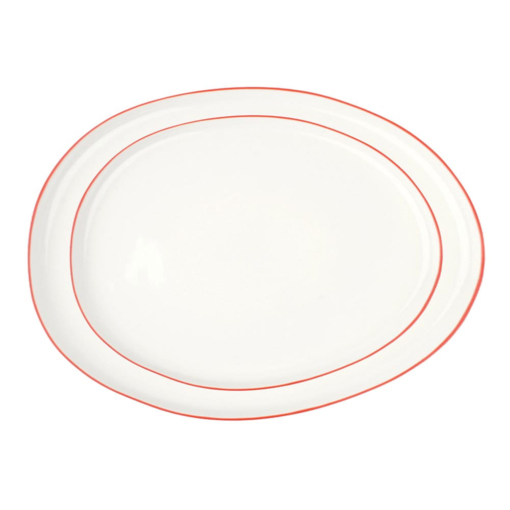 Abbesses Platters with Red Rim