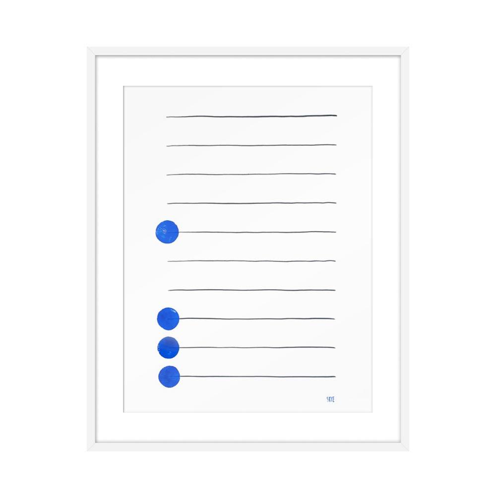 Four Blue by Skye Schuchman for Artfully Walls