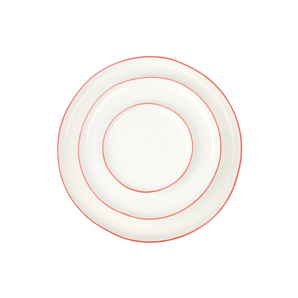 Abbesses Plates with Red Rim