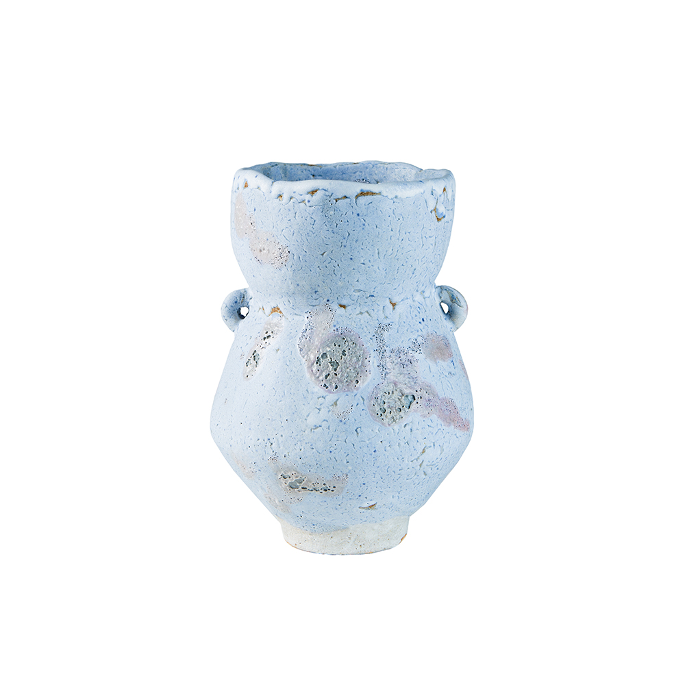 Fig. AG Blue Ceramic Vase