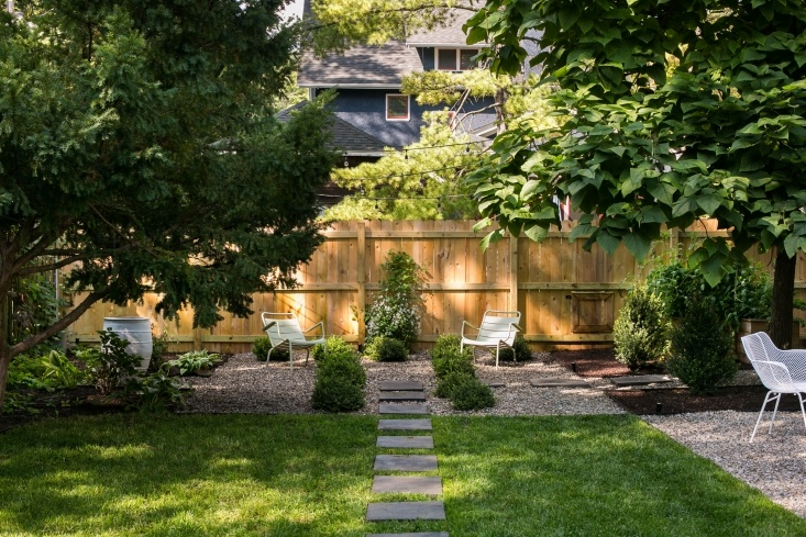 Stepping stones from Home Depot  ensure a mess-free path through the garden.