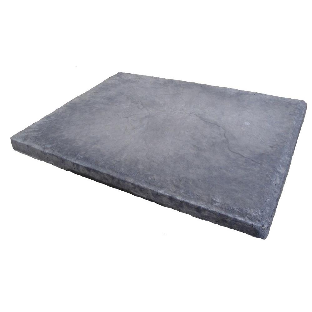 18 in. x 24 in. Slatestone Gray Concrete Step Stone