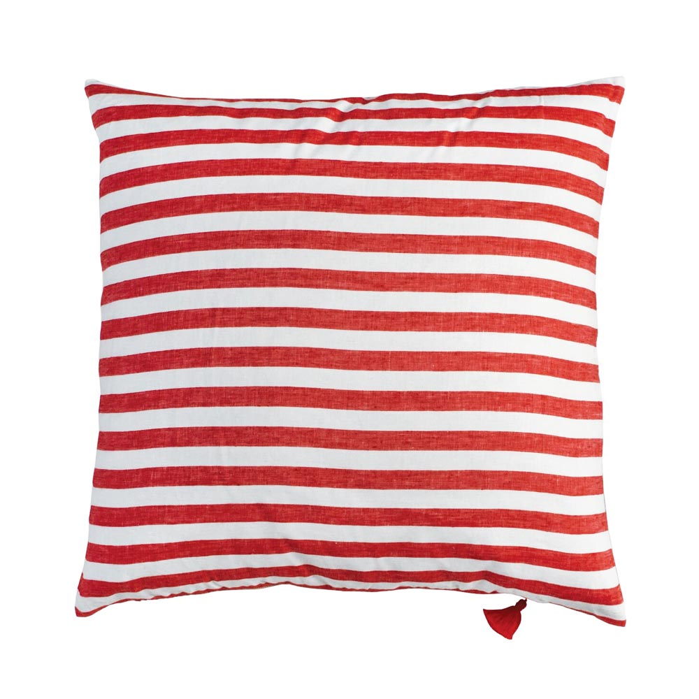 "Red Sur la Mer Throw Pillow (26"" x 26"")"