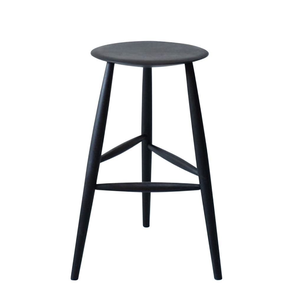 American Black Walnut Tall Stool in Ebonized Finish