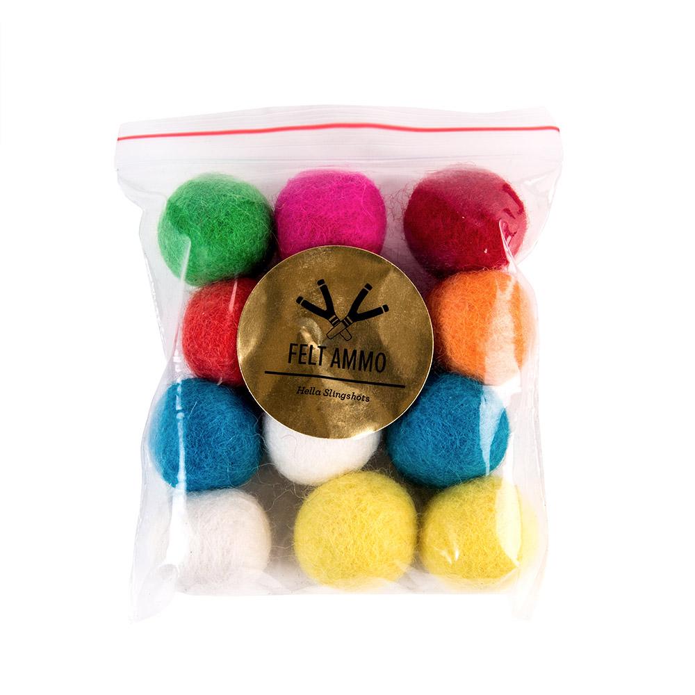 Multicolored Felt Slingshot Ammo