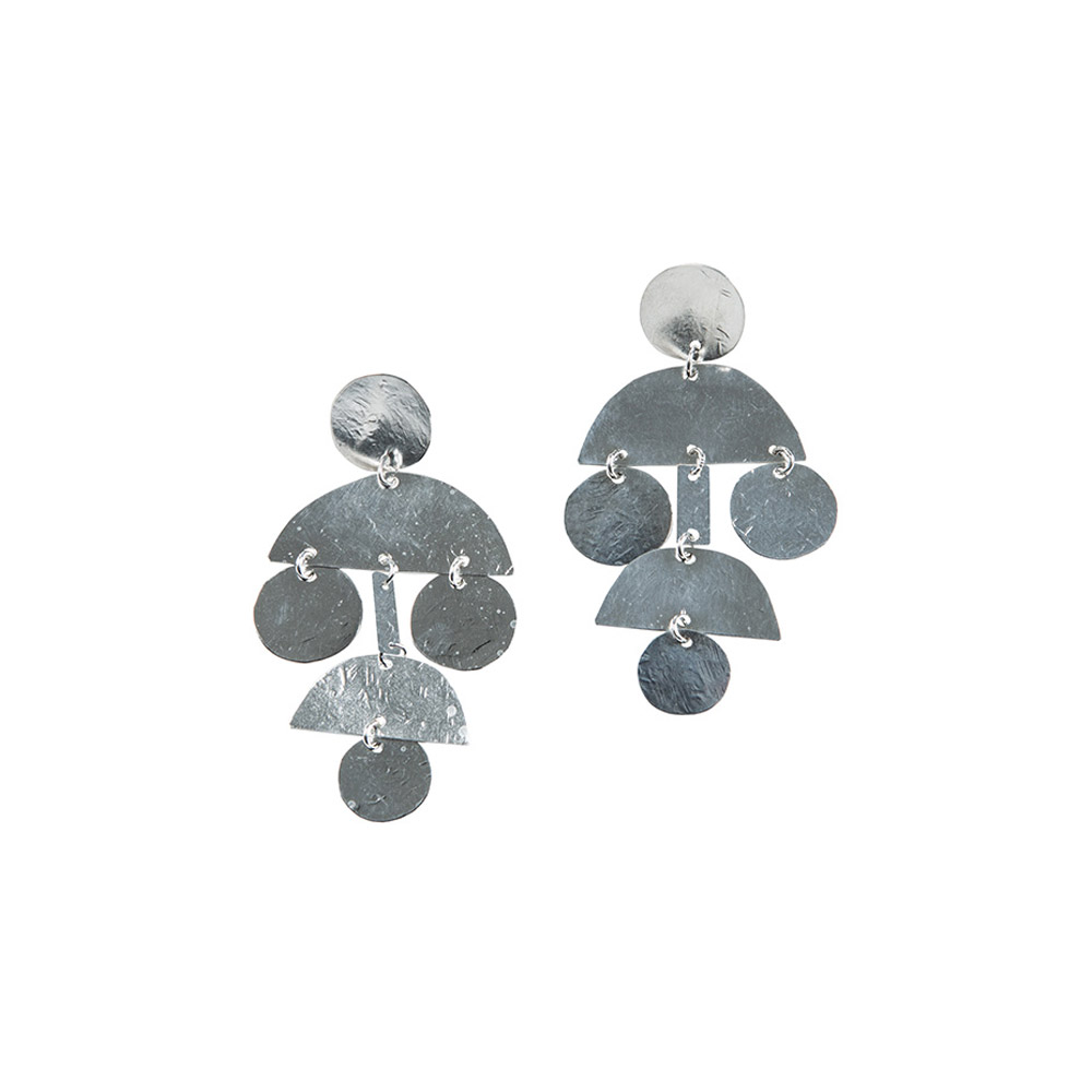 Mini Pom Pom Earrings in Sterling Silver